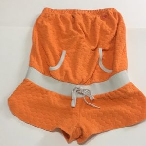 Pants - Terry cloth romper